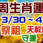 2020生肖運勢週報|03/30-04/05|金玲老師(有字幕)